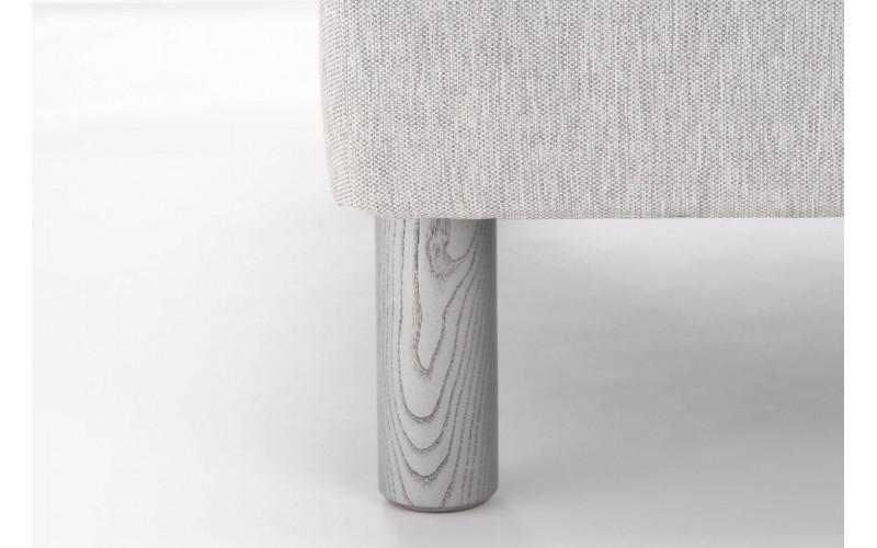 Pied Bois Cylindre Noir Veine Gris 17 cm