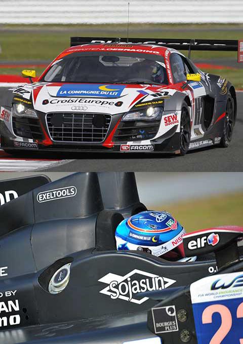 sponsor la compagnie du lit sur voiture de course